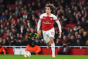Arsenal Midfielder Matteo Guendouzi (29) during the Europa League group stage match between Arsenal and Sporting Lisbon at the Emirates Stadium, London, England on 8 November 2018.