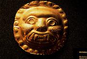 ECUADOR, PREHISPANIC La Tolita Culture, Gold mask