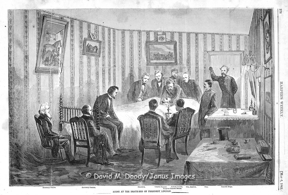 Scene at the death-bed of President Lincoln Harper's Weekly, Sat May 6, 1865.