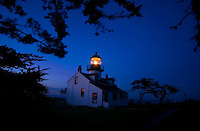 The Point Pinos lighthouse guides ships to the northern tip of the Monterey peninsula Tuesday January 18, 2005. When the seas are calm, you can see migrating whales from the point.