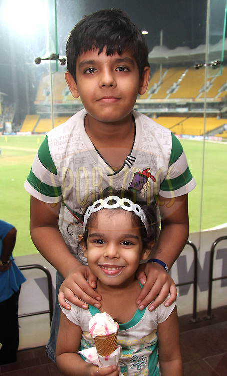 Abhinab and Avni Avnish during match 3 of the NOKIA Champions League T20 ( CLT20 )between the Chennai Superkings and the Mumbai Indians held at the M. A. Chidambaram Stadium in Chennai , Tamil Nadu, India on the 24th September 2011..Photo by Shaun Roy/BCCI/SPORTZPICS
