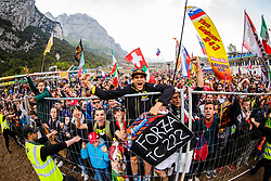 Antonio Cairoli #222 fans during trophy ceremony at  MXGP Trentino race two, round 5 for MXGP Championship in Pietramurata, Italy on 16th of April, 2017 in Italy. Photo by Grega Valancic / Sportida