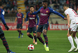 October 31, 2018 - Leon, Leon, Spain - Semedo of Barcelona in action during the King Spanish championship, , football match between Cultural Leonesa and Barcelona, October 31, in Reino de Leon Stadium in Leon, Spain. (Credit Image: © AFP7 via ZUMA Wire)