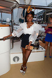 The Johnnie Walker Gold Label Reserve Party aboard John Walker & Sons Voyager, St.Georges Stairs Tier, Butler's Wharf Pier, London, UK on 17th July 2013.<br /> Picture Shows:-Shingai Shoniwa.
