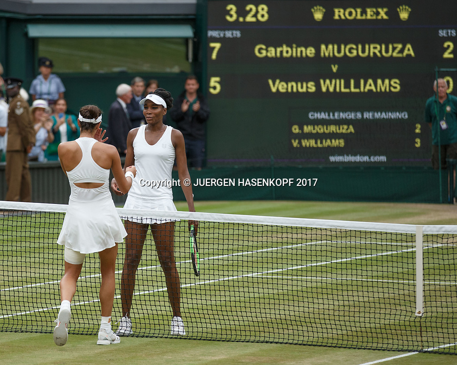 GARBI&Ntilde;E MUGURUZA (ESP) und VENUS WILLIAMS (USA), Endspiel, Final<br /> <br /> Tennis - Wimbledon 2016 - Grand Slam ITF / ATP / WTA -  AELTC - London -  - Great Britain  - 15 July 2017.