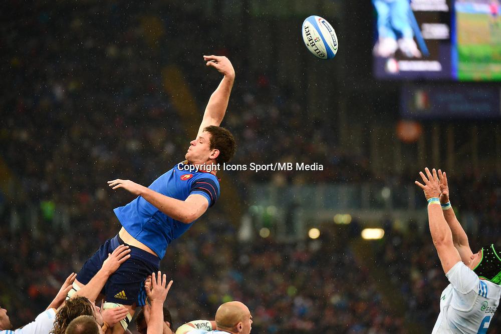 Alexandre FLANQUART - 15.03.2015 - Rugby - Italie / France - Tournoi des VI Nations -Rome<br /> Photo : David Winter / Icon Sport