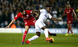 Ronaldo Vieira of Leeds United takes on Jens Hegeler of Bristol City - Mandatory by-line: Robbie Stephenson/JMP - 14/02/2017 - FOOTBALL - Elland Road - Leeds, England - Leeds United v Bristol City - Sky Bet Championship