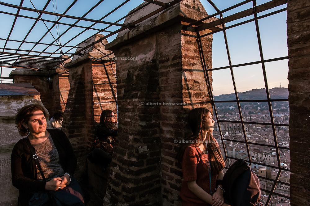 Bologna, at the top of Torre degli Asinelli.