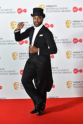 Ore Oduba attending the Virgin TV British Academy Television Awards 2018 held at the Royal Festival Hall, Southbank Centre, London.