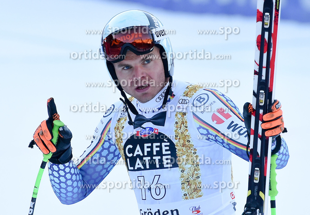16.12.2016, Saslong, St. Christina, ITA, FIS Weltcup Ski Alpin, Groeden, Abfahrt, Herren, im Bild Andreas Sander (GER) // Andreas Sander of Germany reacts after his run of men's downhill of FIS Ski Alpine World Cup at the Saslong in St. Christina, Italy on 2016/12/16. EXPA Pictures © 2016, PhotoCredit: EXPA/ Erich Spiess
