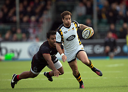 October 9, 2016 - Barnet, England, United Kingdom - Danny Cipriani of Wasps RFC sets up wasps first try during the Aviva Premiership match between Saracens and Wasps at the Allianz Park, London, England on 9th October 2016.    in Barnet, England. (Credit Image: © Kieran Galvin/NurPhoto via ZUMA Press)