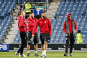 Watford players before The FA Cup 5th round match between Queens Park Rangers and Watford at the Loftus Road Stadium, London, England on 15 February 2019.