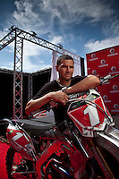 Multiple World Supercross and Australian Super X Champion Chad Reed prepares for the Super X in Newcastle this week by unveiling his unique Vodafone-liveried 450cc race machine