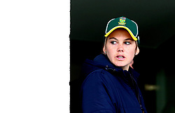 Dane van Niekerk of South Africa Women calls her players in after their Women's World Cup game with New Zealand Women is abandoned due to rain - Mandatory by-line: Robbie Stephenson/JMP - 28/06/2017 - CRICKET - County Ground - Derby, United Kingdom - South Africa Women v New Zealand Women - ICC Women's World Cup Match 6