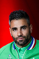 Loic Perrin of Saint Etienne during the Ligue 1 match between Troyes Estac and AS Saint Etienne at Stade de l'Aube on October 1, 2017 in Troyes, . (Photo by Anthony Dibon/Icon Sport)
