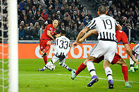 Tiro di Arjen Robben Bayern. A shot of Arjen Robben <br /> Torino 23-02-2016 Juventus Stadium, Football Champions League 2015/2016 Round of 16 Juventus - Bayern Munich / Juventus - Bayern Monaco .  Foto Filippo Alfero / Insidefoto