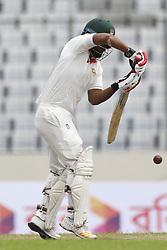 August 29, 2017 - Mirpur, Dhaka, Bangladesh - Bangladesh's Tamim Iqbal Batting during day three of the First Test match between Bangladesh and Australia at Shere Bangla National Stadium on August 29, 2017 in Mirpur, Bangladesh. (Credit Image: © Ahmed Salahuddin/NurPhoto via ZUMA Press)