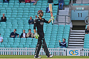 Ben Foakes (Surrey) celebrates his 50 during the Royal London 1 Day Cup match between Surrey County Cricket Club and Kent County Cricket Club at the Kia Oval, Kennington, United Kingdom on 12 May 2017. Photo by Jon Bromley.