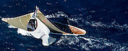 J Class Ranger racing in the St. Barth Bucket regatta.