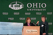 17601Scripps Howard Foundation Announcement of 15 million dollar gift to the College of Communication at the Westin in Cincinnati 4/4/06..Ms. Judith G. Clabes, president & CEO of the Scripps Howard Foundation.Dr. Kathy Krendl, provost of Ohio University
