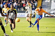 Mansfield Town Defender Malvind Benning (3) gets in a shot during the EFL Sky Bet League 2 match between Notts County and Mansfield Town at Meadow Lane, Nottingham, England on 16 February 2019.