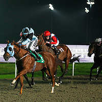 Daruband and Hayley Turner winning the 8.50 race