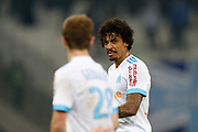 Olympique de Marseille's Brasilian midfielder Luiz Gustavo gestures during the French Championship Ligue 1 football match between Olympique de Marseille and AS Monaco on January 28, 2018 at the Orange Velodrome stadium in Marseille, France - Photo Benjamin Cremel / ProSportsImages / DPPI