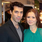NLD/Amstelveen/20111107- Inloop premiere Kantje Boord, Oren Schrijver en partner Celine Purcell