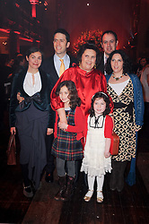 Left to right, SAMSON & BIRANDA SPANIR, SUZY MENKES with her grand daughters JESSICA SPANIER, CLAUDIA SPANIER and GIDEON & NANCY SPANIER at a Celebration of 10 Years of IHT Luxury Conferences during the International Herald Tribune Heritage Luxury Conference held at One Mayfair, 13 1/2 North Audley Streer, London on 9th November 2010.
