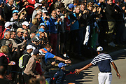 Tony Finau (Usa) during the practice round of Ryder Cup 2018, at Golf National in Saint-Quentin-en-Yvelines, France, September 26, 2018 - Photo Philippe Millereau / KMSP / ProSportsImages / DPPI