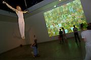 "VENICE, ITALY..50th Biennale of Venice.Czech + Slovak Pavillion, installation ""Kamera skura & Kunst-Fu"" by Erik Binder, Martin Cervenak, Jiri Maska and Rene? Roban..(Photo by Heimo Aga)"