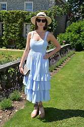 Genevieve Gaunt at the Cartier Style et Luxe at the Goodwood Festival of Speed, Goodwood, West Sussex, England. 2 July 2017.<br /> Photo by Dominic O'Neill/SilverHub 0203 174 1069 sales@silverhubmedia.com