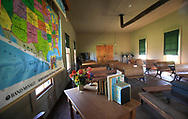 The Junction City one room school house located  on the LBJ Ranch near Johnson City Texas.<br /> <br /> Photo by Dennis Brack