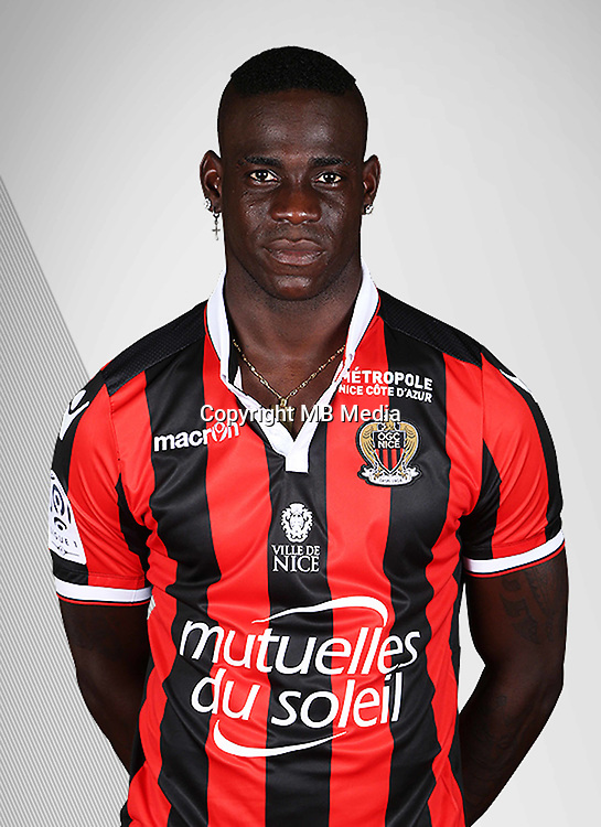 Mario Balotelli during the photocall of Nice on 10th September 2016<br /> Photo : Nice / Icon Sport