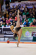 Agiurgiuculese Alexandra during the Italian Rhythmic Gymnastics Championship 2018 in Fabriano.<br />