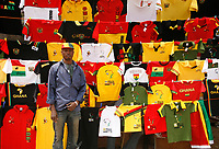 Photo: Steve Bond/Richard Lane Photography.<br />Ivory Coast v Mali. Africa Cup of Nations. 29/01/2008. Plenty of colourful souvenirs available, at a negotiable price