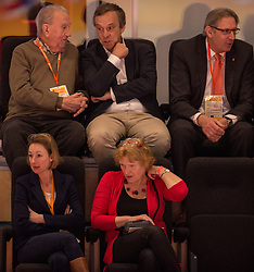22-02-2015 NED: Bekerfinale Abiant Lycurgus - Landstede Volleybal, Zwolle<br /> In een thriller prolongeerde Landstede Volleybal de beker: 25-22, 22-25, 25-20 en 29-27 / Jaap Boon, VIP NeVoBo, Joelle Staps