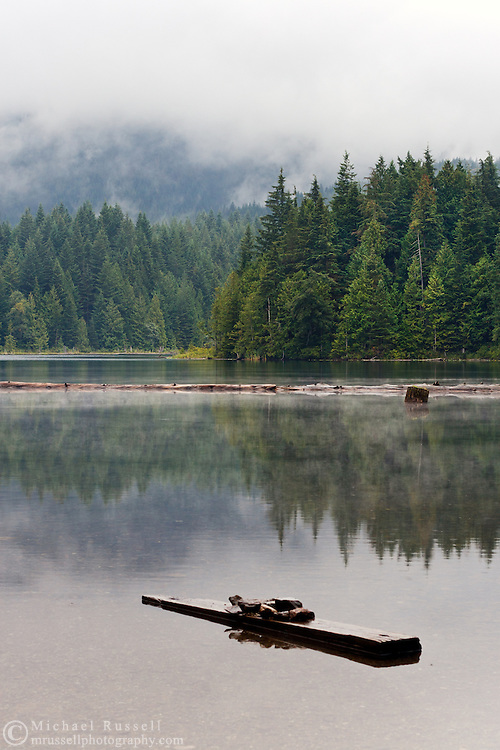 View from the Shore of Weaver Lake in the Fraser Valley of British Columbia, Canada
