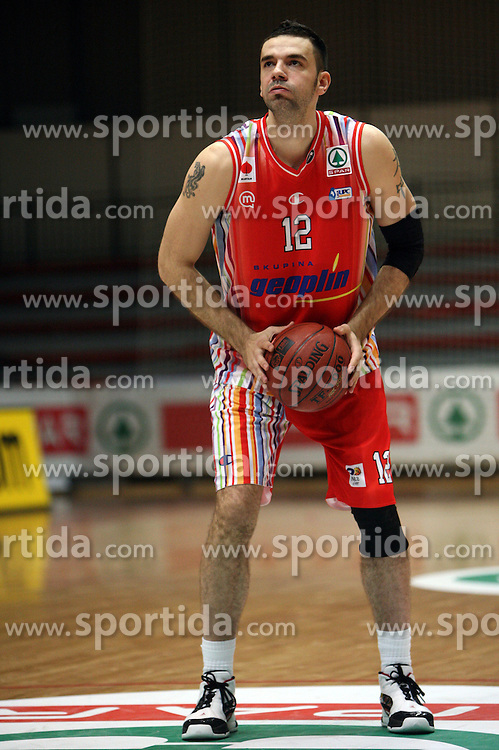 Marko Jovanovic of Geoplin Slovan at basketball game Geoplin Slovan - Helios Domzale in in the second match of quarter-final of Spar Cup, on February 7, 2008 in Ljubljana, Slovenia.   (Photo by Vid Ponikvar / Sportal Images).