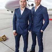 NLD/Amsterdam/20150618 - Perpresentatie musical The Bodyguard, Dave Mantel en Mark van eeuwen
