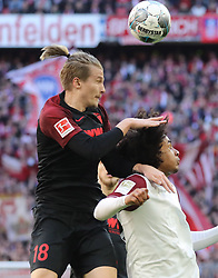 08.03.2020, Allianz Arena, Muenchen, GER, 1. FBL, FC Bayern Muenchen vs FC Augsburg, 25. Runde, im Bild Tin Jedvaj - Joshua Zirkzee // during the German Bundesliga 25th round match between FC Bayern Muenchen and FC Augsburg at the Allianz Arena in Muenchen, Germany on 2020/03/08. EXPA Pictures © 2020, PhotoCredit: EXPA/ SM<br /> <br /> *****ATTENTION - OUT of GER*****