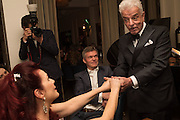 CLEO ROCOS; NICKY HASLAM, Nicky Haslam hosts dinner at  Gigi's for Leslie Caron. 22 Woodstock St. London. W1C 2AR. 25 March 2015