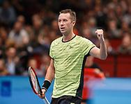 PHILIPP KOHLSCHREIBER (GER) macht die Faust und jubelt, Halbkoerper, Jubel,Emotion, <br /> <br /> Tennis - ERSTE BANK OPEN 2017 - ATP 500 -  Stadthalle - Wien -  - Oesterreich  - 27 October 2017. <br /> &copy; Juergen Hasenkopf