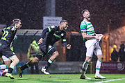 Forest Green Rovers Reuben Reid(26) scores a goal 1-1 and celebrates during the EFL Sky Bet League 2 match between Yeovil Town and Forest Green Rovers at Huish Park, Yeovil, England on 8 December 2018.