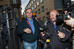 © licensed to London News Pictures. London, UK 13/05/2013. Chris Huhne arriving his house in London after being released from prison on Monday, 13 May 2013. Photo credit: Tolga Akmen/LNP