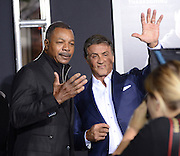SYLVESTER STALLONE and CARL WEATHERS at the premiere of 'Creed' held at the Regency Village theatre.<br /> ©Exclusivepix Media