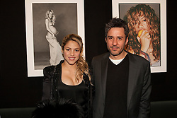 Singer Shakira and photographer Jaume de la Iguana posses in   Jaume¥s pictures exhibition at Palau Robert in Barcelona, Spain, February 28, 2013. Photo by MARCEL SOTO / DYD FOTOGRAFOS / i-Images. .OUT - USA, FRANCE , GERMANY AND SPAIN