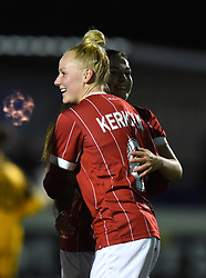 Danique Kerkdijk of Bristol City Women celebrates her goal - Mandatory by-line: Paul Knight/JMP - 02/12/2017 - FOOTBALL - Stoke Gifford Stadium - Bristol, England - Bristol City Women v Brighton and Hove Albion Ladies - Continental Cup Group 2 South