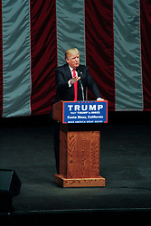 Donald Trump for President rally in Costa Mesa, CA at the OC Fair & Event Center - The Pacific Amphitheater. Thursday, April 28, 2016