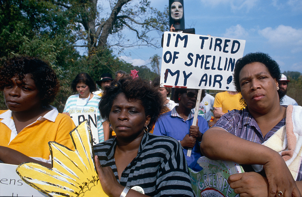 """In 1988, I was hired to document toxic dumping along the Mississippi River. During that trip I photographed The Great Louisiana Toxics March where African-American residents living under the cloud of the """"chemical corridor,"""" alternately called """"cancer alley,"""" joined forces with environmental groups in a protest from Baton Rouge to New Orleans.<br /> <br /> It was dynamic and inspiring to see their plea for clean air, land, and water placed in a civil rights context. After witnessing the severity of hazardous wastes and the local protests against it, I realized, as a photographer, the importance of documenting places that illustrate pollution infringing on everyday lives. Over several years I travelled around the country looking at communities affected by chemical spills and hazardous waste releases.<br /> <br /> Because photojournalism brings such powerful emotional immediacy to a subject, I believe photography is an important medium to use to help society address the difficult tragedy of environmental abuse.<br /> <br /> Images from this series have been published in the journal Aperture; magazines and trade publications reporting on environmental issues; used by environmental groups and the EPA, and displayed at museums including the Corcoran Gallery of Art and the Library of Congress.<br /> <br /> I dedicate this series to the memory of Declan Haun: Photographer, Editor, Creator, Thinker, and Mentor to many. Our all too brief time spent """"talking pictures"""" had a profound impact on my appreciation of the beauty and power of photography and individuals. Thanks."""